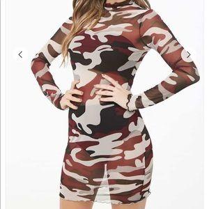 SHEER MESH CAMO DRESS!! VERY LIGHT!!! NEW!!